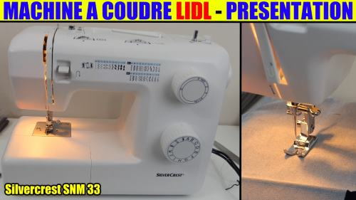 Machine coudre lidl silvercrest snm 33 b1 sewing for Machine a coudre 33 points