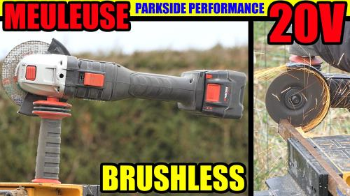 Meuleuse d'angle PARKSIDE PERFORMANCE PWSAP 20-Li BRUSHLESS 125 MM test