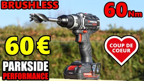 Perceuse visseuse PARKSIDE PERFORMANCE LIDL PABSP 20v