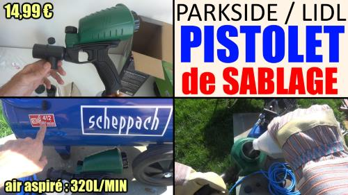 pistolet de sablage air comprim parkside pdsp 1000 b2 lidl pneumatique. Black Bedroom Furniture Sets. Home Design Ideas