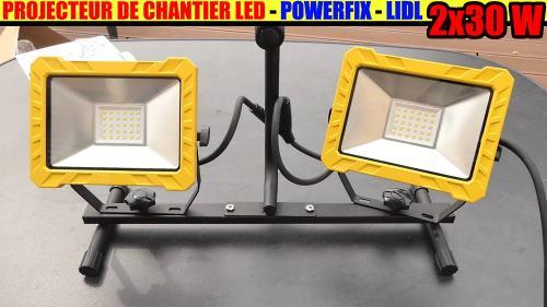 projecteur de chantier LED LIDL présentation et petit test