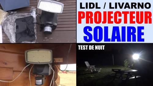 projecteur solaire lidl livarno lux led detecteur de. Black Bedroom Furniture Sets. Home Design Ideas