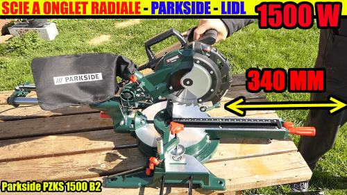 scie à onglet radiale parkside déballage !