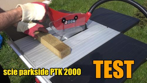 Test Parkside table saw ptk 2000 b2 lidl For precise cuts in wood, chipboard, coated furniture panels and plastics accessories test advice customer reviews price instruction manual technical data