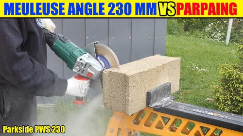 Meuleuse d 39 angle parkside pws 230 a1 lidl test avis prix notice caracteristiques - Meuleuse d angle lidl ...