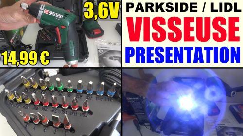 Visseuse sans fil lidl parkside 3 6v pssa 3 6 c4 avec led - Visseuse devisseuse lidl ...