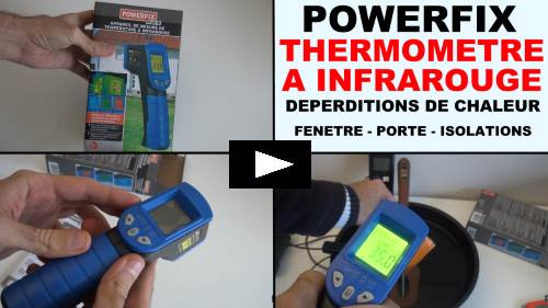 powerfix thermometre infrarouge lidl mesure de temperature deperditions de chaleur