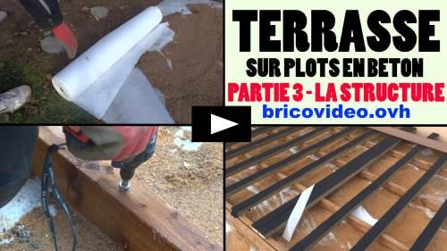 Raliser Une Terrasse En Bois Composite Sur Plot En Bton Arm