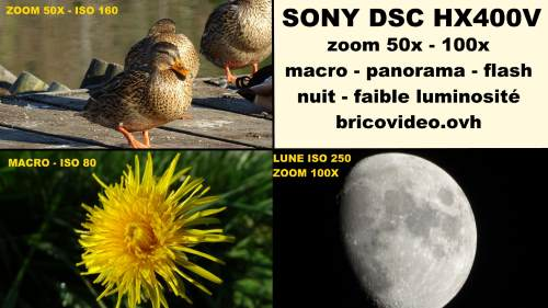 sony dsc hx400v test deballage photos videos zoom 50x 100x macro panorama nuit faible luminosite partie 2