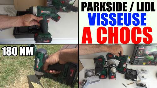 parkside perceuse visseuse a percussion sans fil psbsa 18-li a1 lidl
